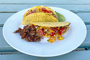 Pulled jackfruit taco